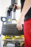 更改的轮胎 库存图片
