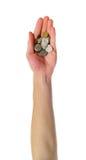更改硬币现有量藏品 库存照片