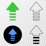 更新箭头与等高版本的传染媒介EPS象 图库摄影