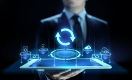 更新软件应用和硬件升级技术概念 皇族释放例证