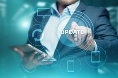 更新软件计算机程序升级企业技术互联网概念 图库摄影
