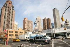曼哈顿业务量 库存照片