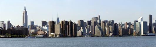曼哈顿东区的曼哈顿全景 库存照片