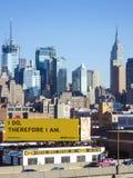 曼哈顿中城都市风景  免版税库存图片
