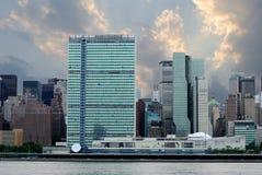 曼哈顿中间地区地平线 图库摄影
