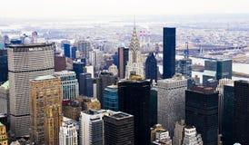 曼哈顿中间地区地平线 免版税图库摄影