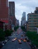曼哈顿中间地区街道视图,纽约,美国 图库摄影