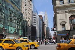 曼哈顿交通, 免版税库存图片