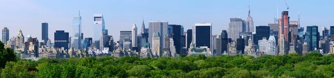 曼哈顿全景 免版税图库摄影