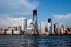 曼哈顿和世界贸易中心 库存图片