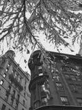 曼哈顿图在冬天, NYC 免版税库存照片