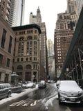 曼哈顿图在冬天, NYC 库存图片