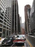 曼哈顿图在冬天, NYC 库存照片