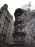 曼哈顿图在冬天, NYC 免版税图库摄影