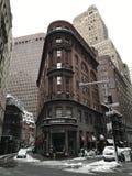 曼哈顿图在冬天, NYC 免版税库存图片