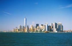 曼哈顿在一个晴天 免版税图库摄影