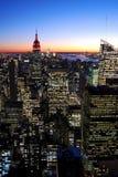曼哈顿在晚上,纽约 免版税图库摄影