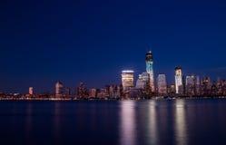 曼哈顿在晚上 图库摄影