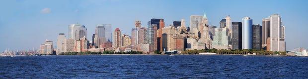 曼哈顿地平线全景,纽约 图库摄影