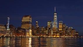 曼哈顿地平线视图和世界贸易中心在纽约,美国 图库摄影