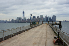 曼哈顿地平线视图 库存照片