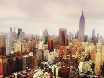 曼哈顿地平线,NYC 库存图片