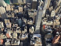 曼哈顿大厦看法  免版税库存图片