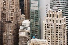 曼哈顿屋顶鸟瞰图  图库摄影