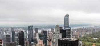 曼哈顿屋顶鸟瞰图  免版税库存照片