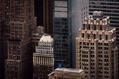 曼哈顿屋顶鸟瞰图  库存图片