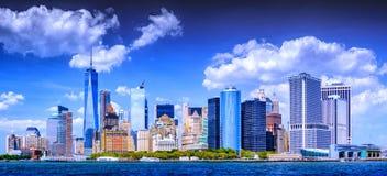 曼哈顿巴特里公园视图  免版税库存照片