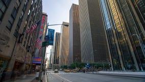 曼哈顿市街道纽约timelapse路 股票录像