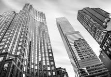 曼哈顿建筑学 图库摄影
