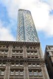 曼哈顿摩天大楼建筑学 免版税库存图片