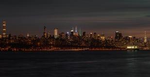 曼哈顿新的神色在哈得逊河的 库存照片