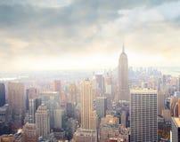 曼哈顿早晨 免版税库存图片