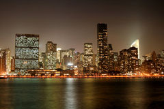 曼哈顿晚上地平线 库存图片