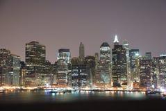 曼哈顿晚上 免版税库存图片
