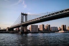 曼哈顿桥梁和纽约 库存图片