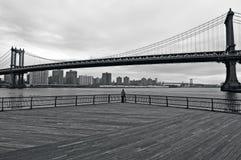 曼哈顿桥梁在曼哈顿纽约城 库存图片