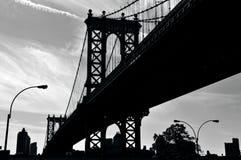 曼哈顿桥梁在曼哈顿纽约 免版税库存照片