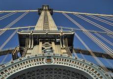 曼哈顿桥梁塔 免版税库存照片