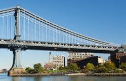 曼哈顿桥梁 图库摄影