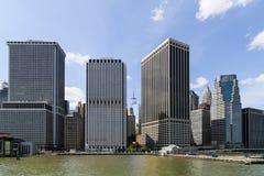曼哈顿江边 免版税库存图片