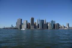 曼哈顿江边East河 免版税库存照片