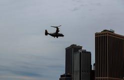 曼哈顿海洋直升机分谴舰队一HMX-1 免版税库存照片