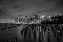 曼哈顿看法在纽约 库存照片