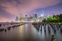 曼哈顿看法在纽约 图库摄影