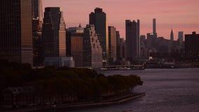 曼哈顿纽约日出风景 影视素材