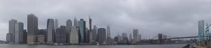 曼哈顿纽约美国全景  免版税库存图片